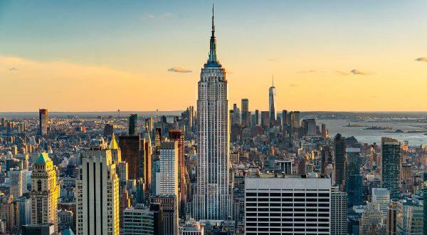Empire State Building au couché de soleil