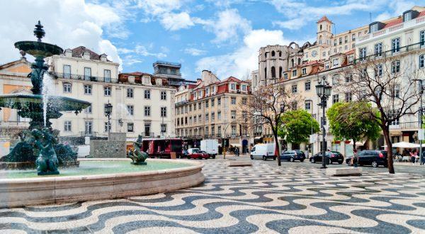 Quartier de Baixa, Lisbonne, Portugal, Shutterstock