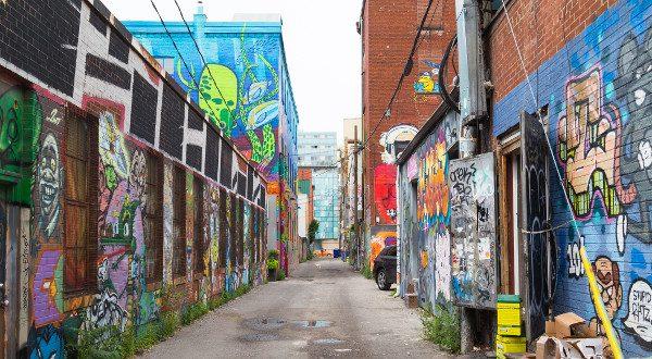 Street Art Graffiti Alley, Toronto