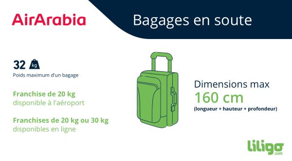 Air Arabia bagage en soute