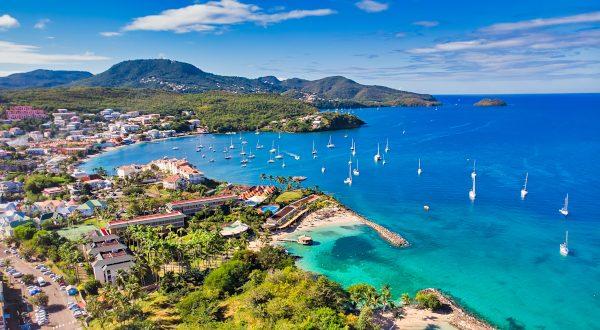 Les Trois Ilets, Martinique - Aerial View to Anse Mitan