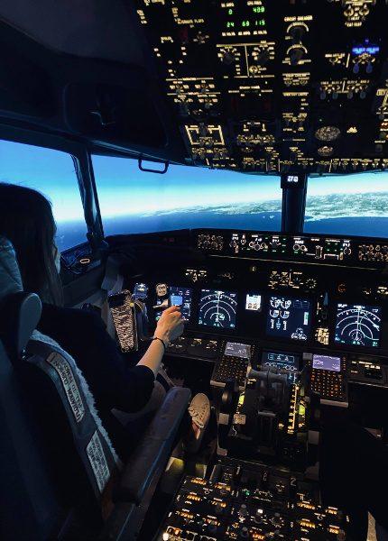 Simulateur de vol stage peur en avion cf Julie Galaup