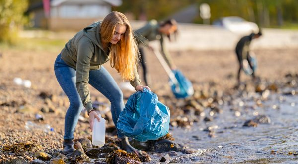 Waste collection on the beach iStock